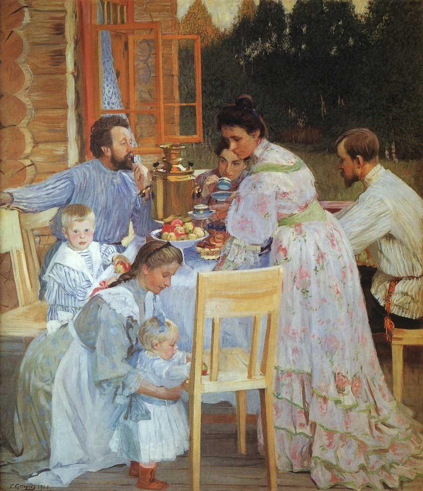 Б. Кустодиев. На террасе