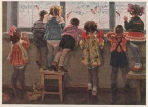Н. Ульянов. Снегири. Детский сад